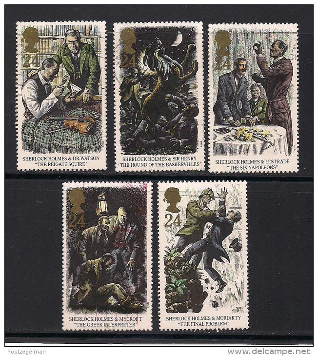 UK, 1993, Cancelled Stamp(s) , Sherlock Holmes,  1468-1472 #14576 - 1952-.... (Elizabeth II)