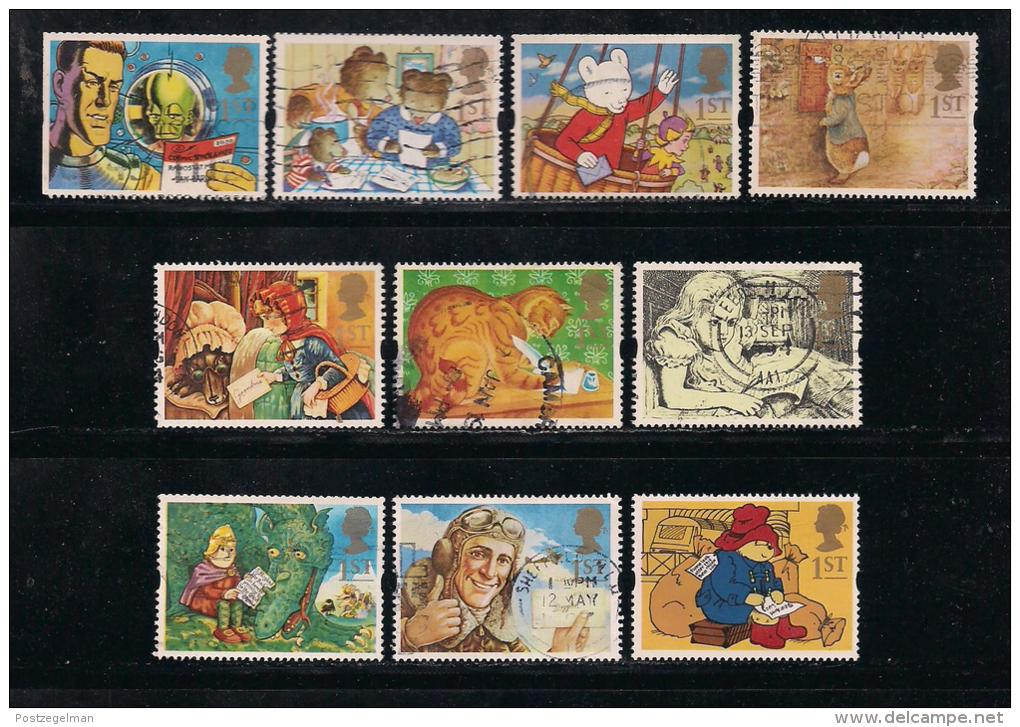 UK, 1994, Cancelled Stamp(s) , Greetings Stamps,  1493-1502 #14579 - Used Stamps