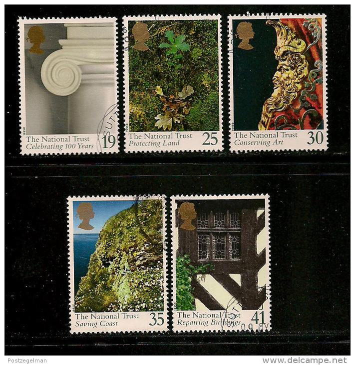 UK, 1995, Cancelled Stamp(s) , Centenary National Trust ,  1564-1568,  #14590 - Used Stamps