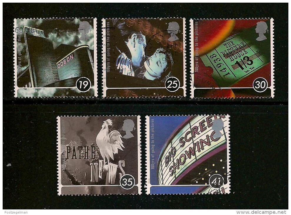 UK, 1996, Cancelled Stamp(s) , Centenary Of Cinema,  1620-1624,  #14597 - 1952-.... (Elizabeth II)