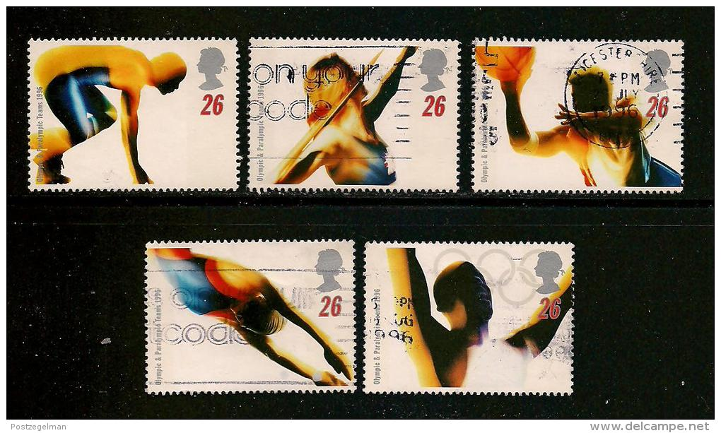 UK, 1996, Cancelled Stamp(s) , Olympic Games Atlanta,  1642-1646,  #14598 - Used Stamps