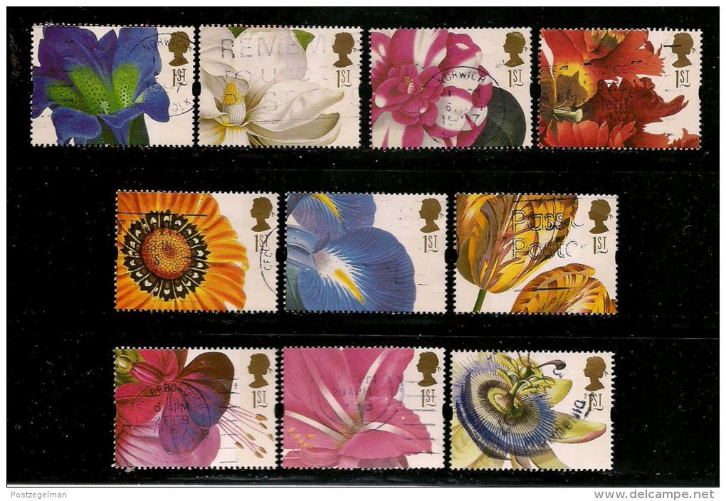 UK, 1997, Cancelled Stamp(s) , Greeting Stamps Flowers,  1667-1676  #14603 - 1952-.... (Elizabeth II)