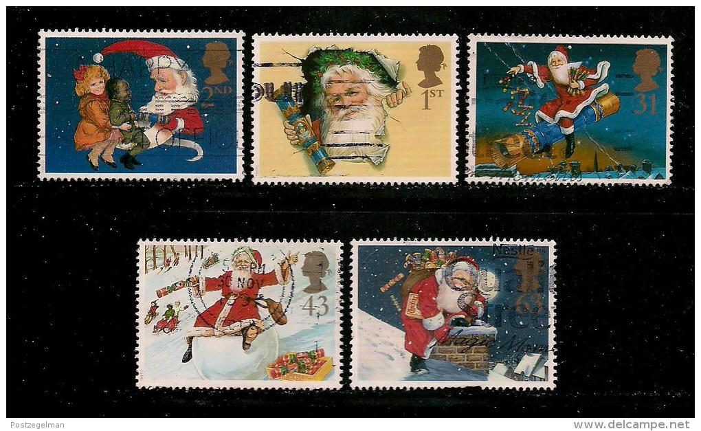 UK, 1997, Cancelled Stamp(s) , Christmas,  1714-1718  #14609 - Used Stamps