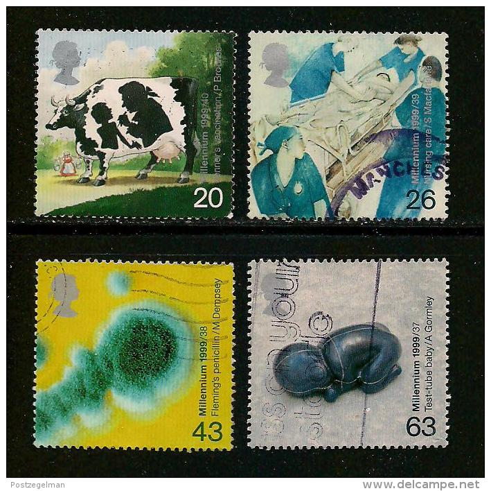 UK, 1999, Cancelled Stamp(s) , Millenium Series The Travellers,  1782-1785, #14621 - 1952-.... (Elizabeth II)