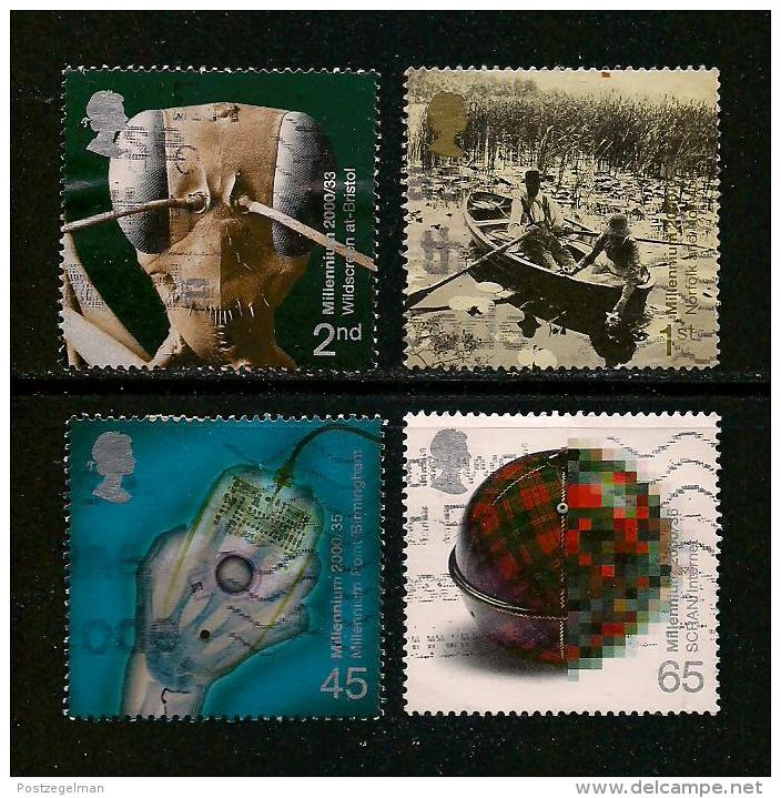 UK, 2000, Cancelled Stamp(s) , Millenium Series The Projects 9,  Sg1473-1476, #14200 - 1952-.... (Elizabeth II)