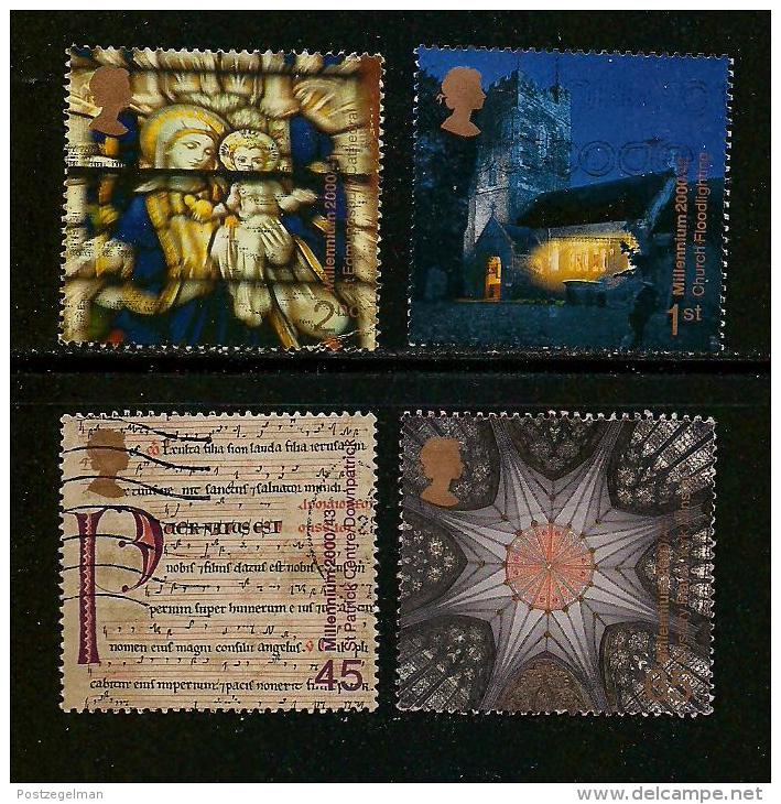 UK, 2000, Cancelled Stamp(s) , Millenium Series The Projects 11,  Sg1481-1484, #14202 - Used Stamps