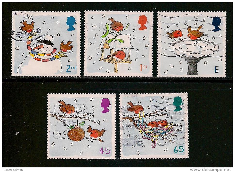 UK, 2001, Cancelled Stamp(s) , Christmas,  Sg1545-1549, #14207 - 1952-.... (Elizabeth II)