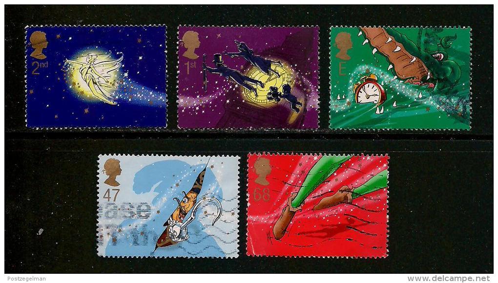 UK, 2002, Cancelled Stamp(s) , Children Hospital ,  Sg1603-1607, #14210 - Used Stamps
