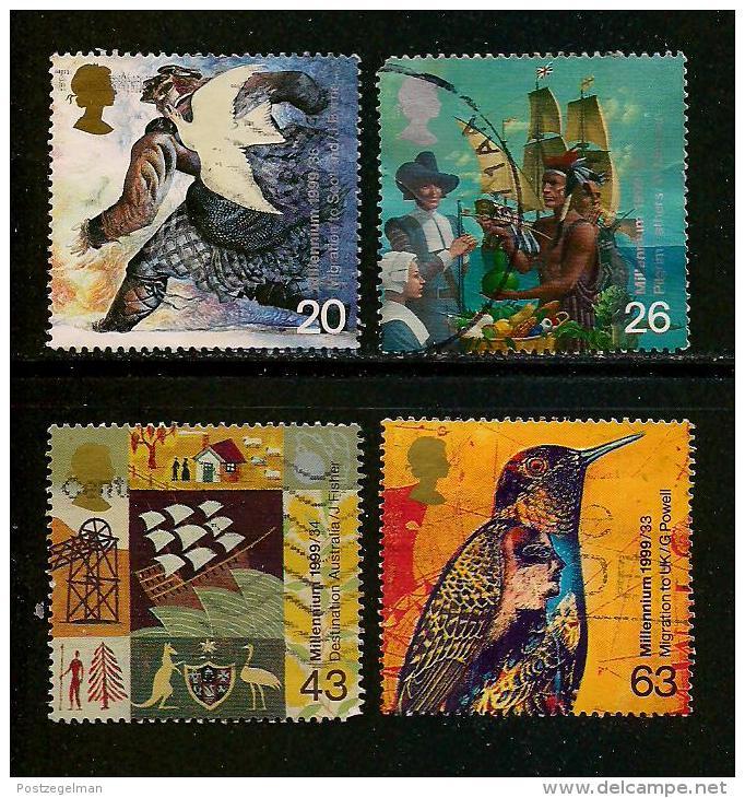 UK, 1999, Cancelled Stamp(s) , Millenium Series  ,  Sg1395-1398, #14214 - 1952-.... (Elizabeth II)
