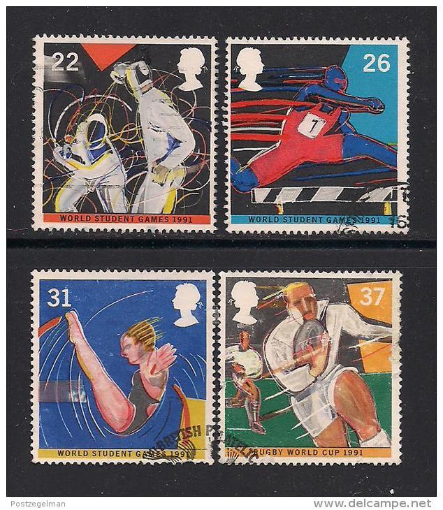 UK, 1991, Cancelled Stamp(s) , World Student Games,  1341-1344, #14550 - 1952-.... (Elizabeth II)