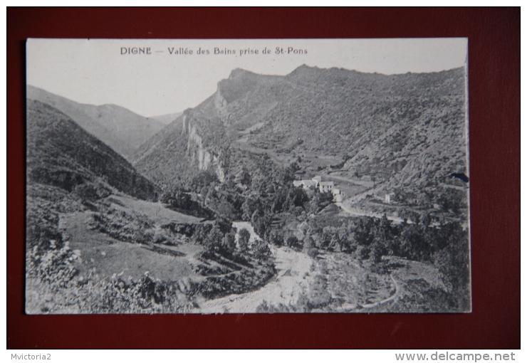 DIGNE - Vallée Des Bains Prise De ST PONS - Digne