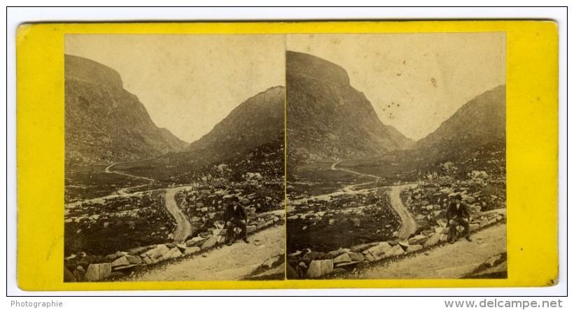 Irlande Killarney Gap Of Dunloe Vue Generale Ancienne Photo 1870's - Stereoscopic