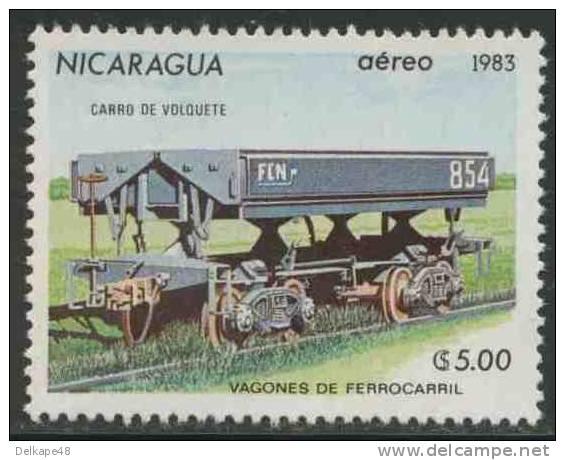 Nicaragua 1983 Mi 2392 Aero ** Tipper Truck – Railway Wagons / Kippwagen - Eisenbahnwagen - Treinen