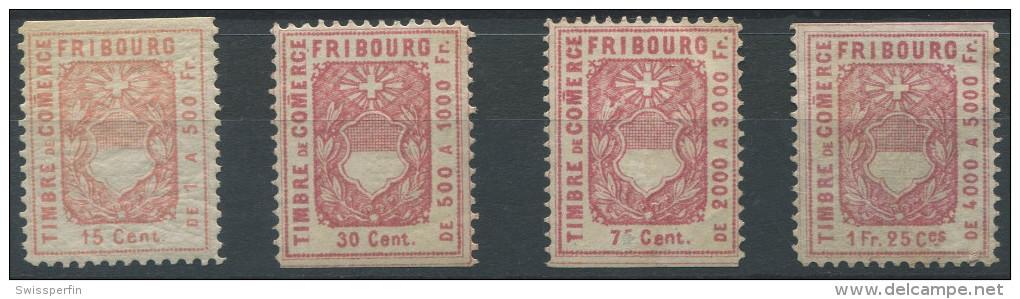 1245 - FRIBOURG Fiskalmarken - Fiscaux