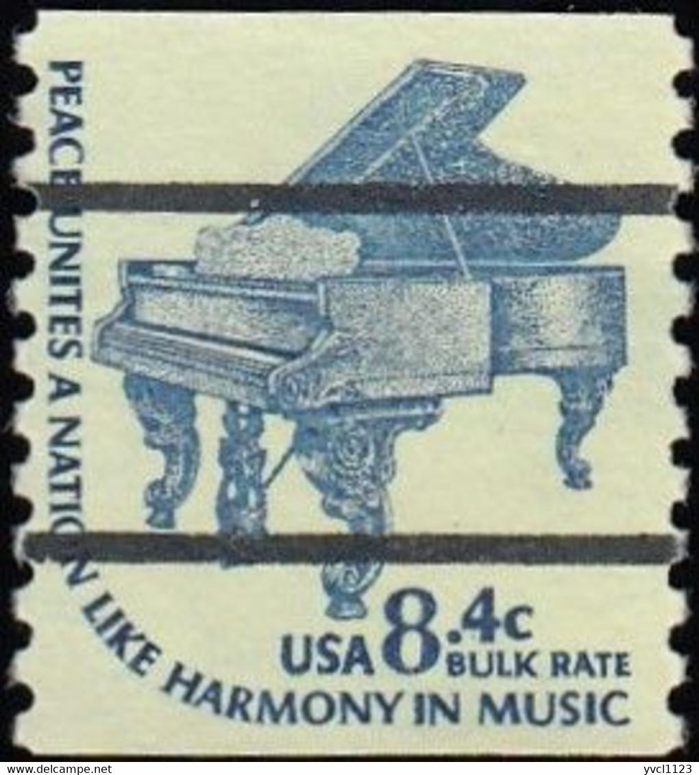 UNITED STATES - Scott #1615Cd  Piano (*) / Mint NG Stamp - Precancels