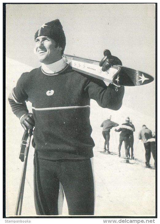 Werner Bleiner Skiing Ski Alpine Winter Sports Photocard - Winter Sports