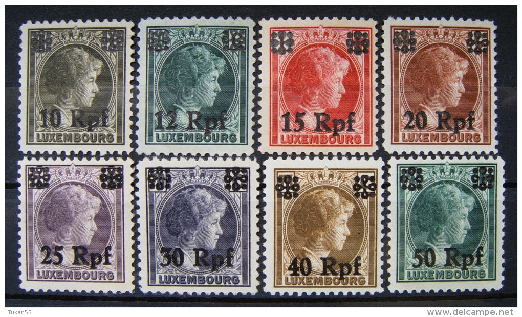 Dt.Reich Besetzung Luxemburg 1943 Prinzesin Sharlot ** Postfrisch    (I179) - Besetzungen