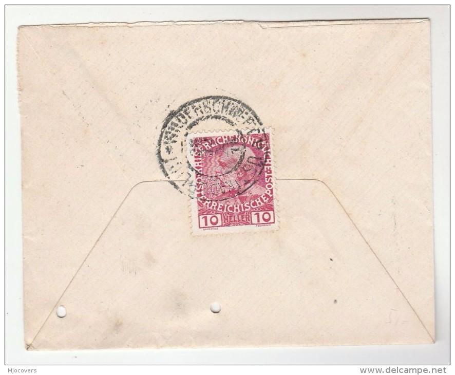 1910 Ustí Nad Orlici AUSTRIA Stamps COVER  Czechoslovakia - Covers & Documents