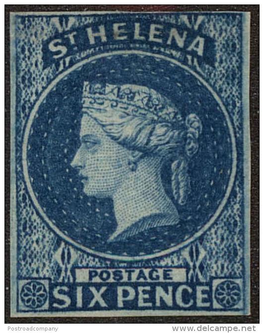 St. Helena Scott #1, 1856, Hinged - St. Helena