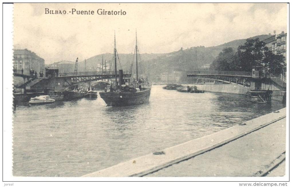 POSTAL  BILBAO  -ESPAÑA  -  PUENTE GIRATORIO (PONT TOURNANT ) - Vizcaya (Bilbao)