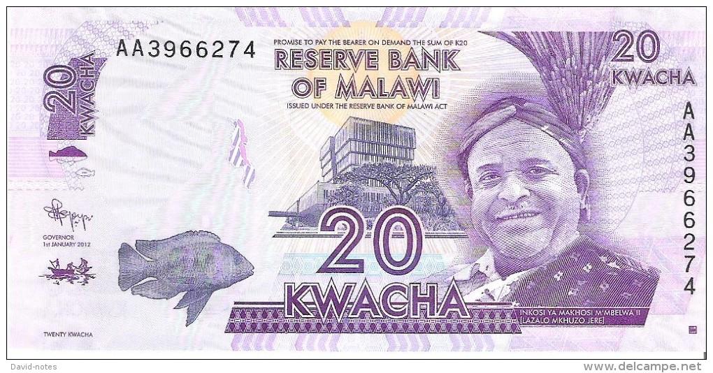 Malawi - Pick 57 - 20 Kwacha 2012 - Unc - Malawi