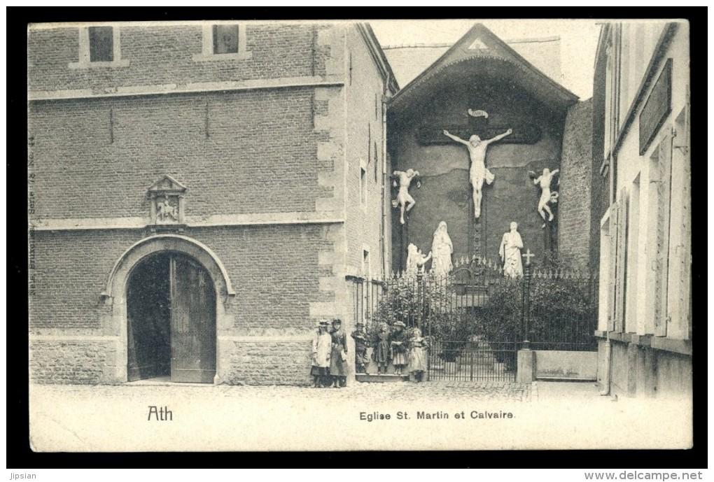 Cpa De Belgique Ath -- église St Martin Et Calvaire    LIOB26 - Ath