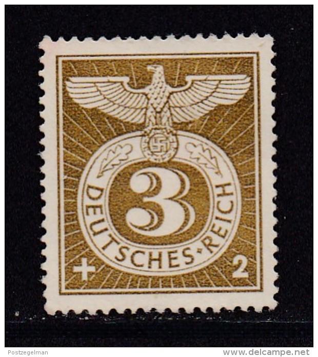 DEUTSCHES REICH, 1943, Unused (no Glue) Stamp(s), Reichs Adler, MI 830, #16169 , - Unused Stamps