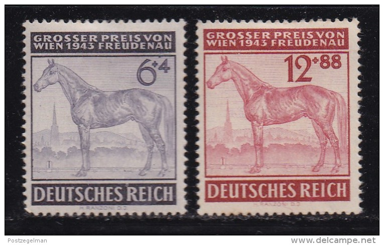 DEUTSCHES REICH, 1943, Hinged Unused Stamp(s), Racing Wien, MI 857-858, #16180 , - Unused Stamps