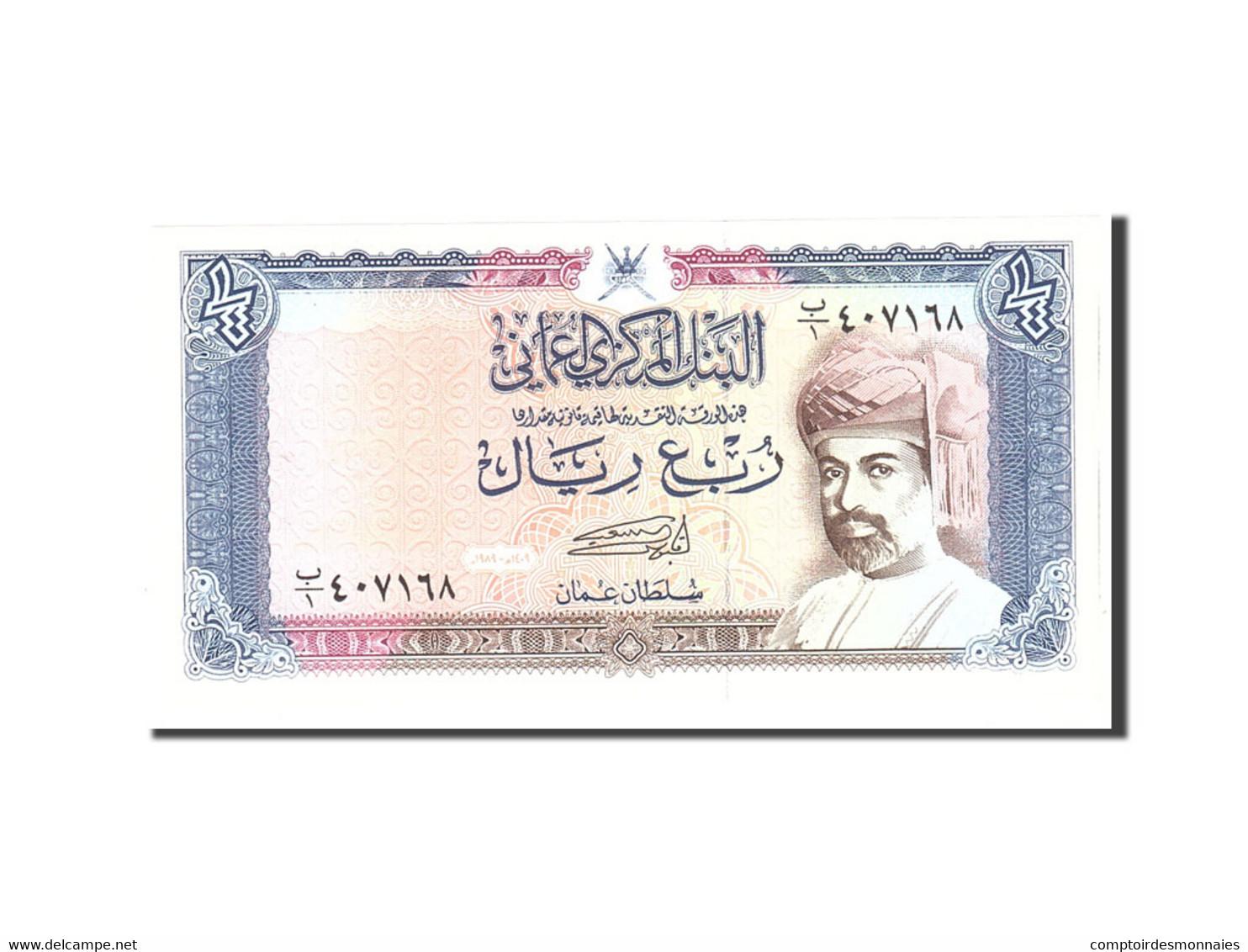 Oman, 1/4 Rial, 1989, KM:24, Undated, NEUF - Oman