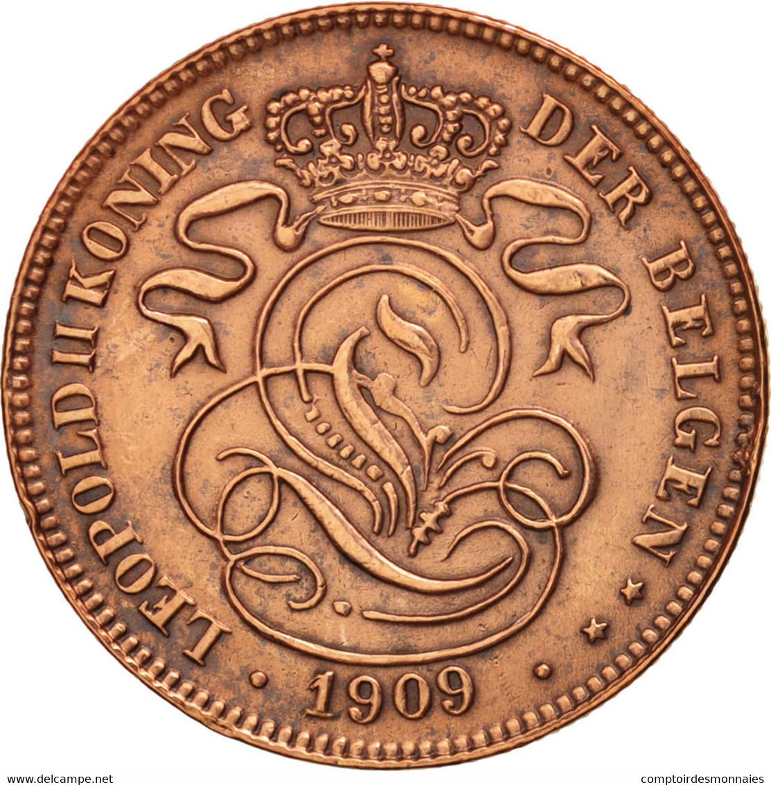 Belgique, 2 Centimes, 1909, TTB+, Cuivre, KM:36 - 02. 2 Centimes