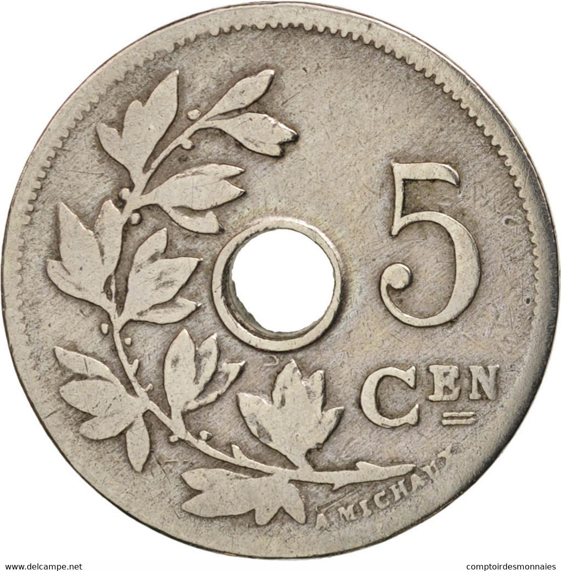 Belgique, 5 Centimes, 1904, TB+, Copper-nickel, KM:55 - 03. 5 Centimes