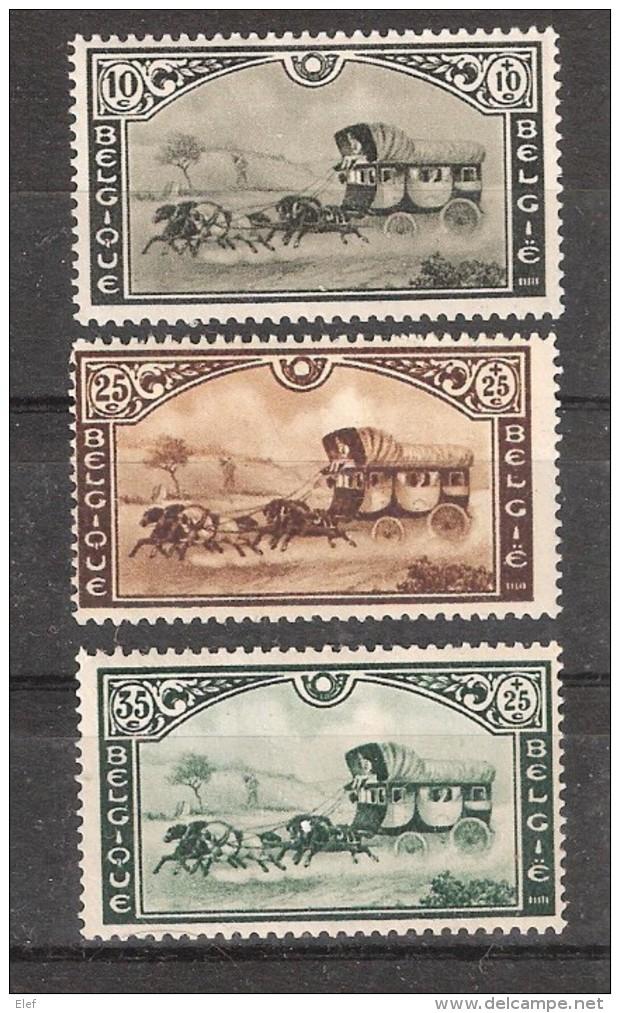 Exposition Universelle De BRUXELLES , Belgique 1935, Série Malle Poste Belge Yvert 407 / 409 , Neuve * / MH, TB - 1935 – Brüssel (Belgien)