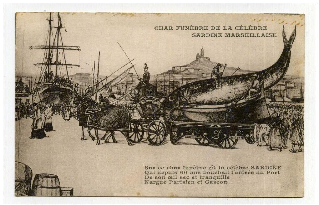 LL , 13 , MARSEILLE , Char Funèbre De La Célèbre Sardine Marseillaise , Vierge - Marseille