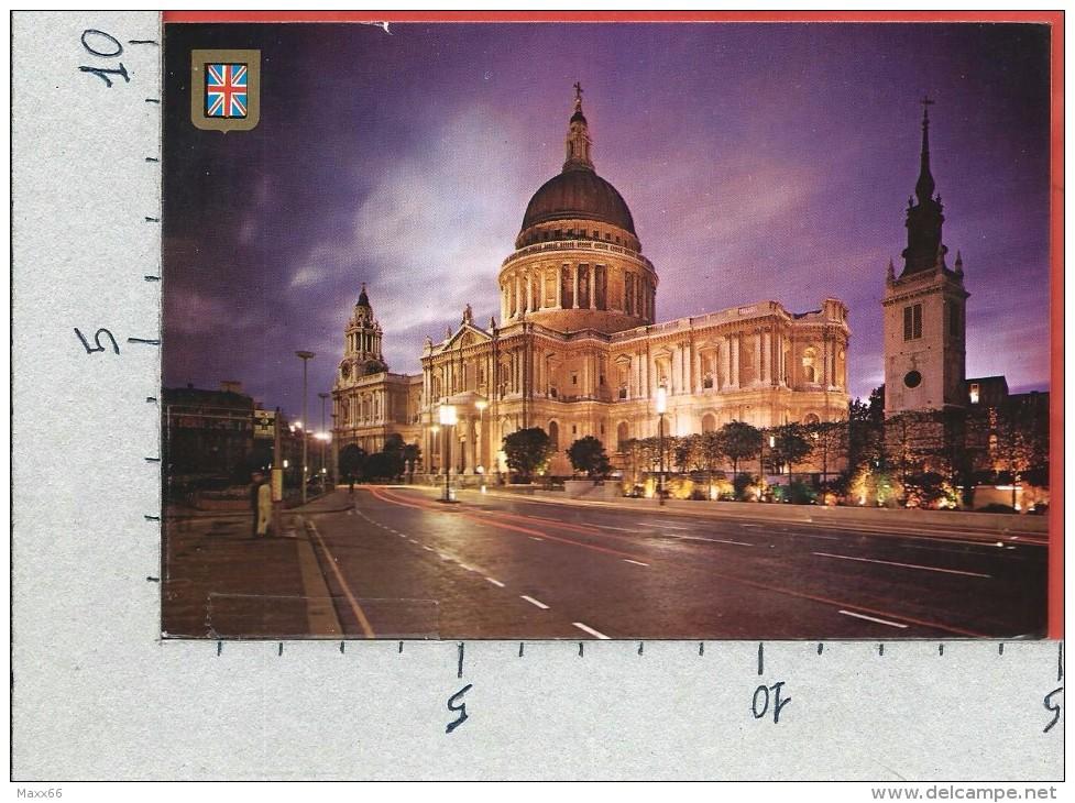 CARTOLINA VG REGNO UNITO - LONDON - St Paul's Cathedral - Notturno - 10 X 15 - ANN. 1989 - St. Paul's Cathedral