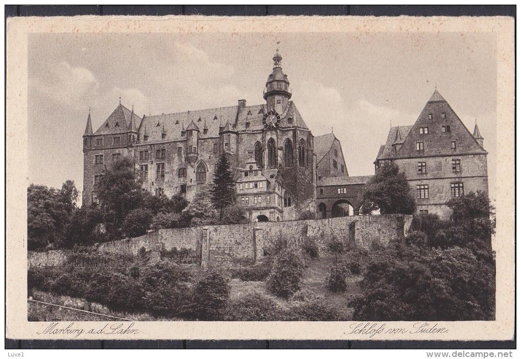 GERMANY , MARBURG , OLD POSTCARD - Marburg