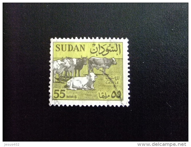 SOUDAN RÉPUBLIQUE SUDAN 1962 BOEUFS  Yvert Nº 151 º FU - Sudan (1954-...)