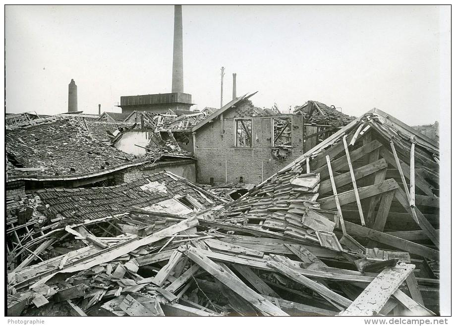 France Ruines De Reims WWI Première Guerre Mondiale Ancienne Photo Wentzell 1919 - Places