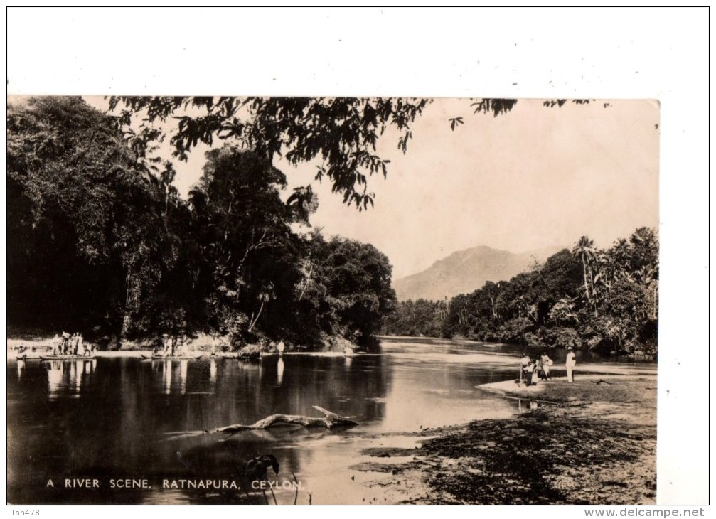 SRI LANKA----A River Scene Ratnapura Ceylon---voir 2 Scans - Sri Lanka (Ceylon)