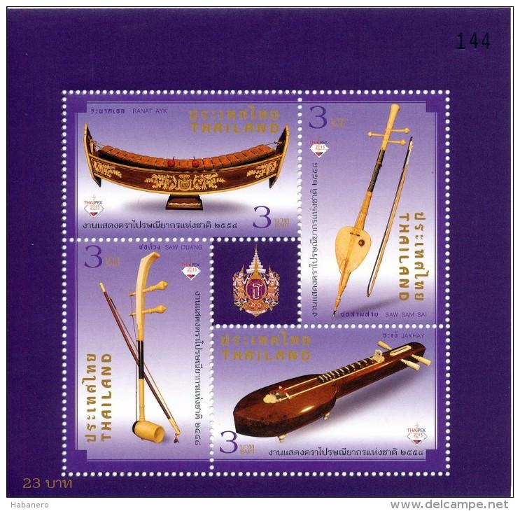 THAILAND - 2015 - Mi BL. 336A - MUSIC INSTRUMENTS - MNH ** - Thailand