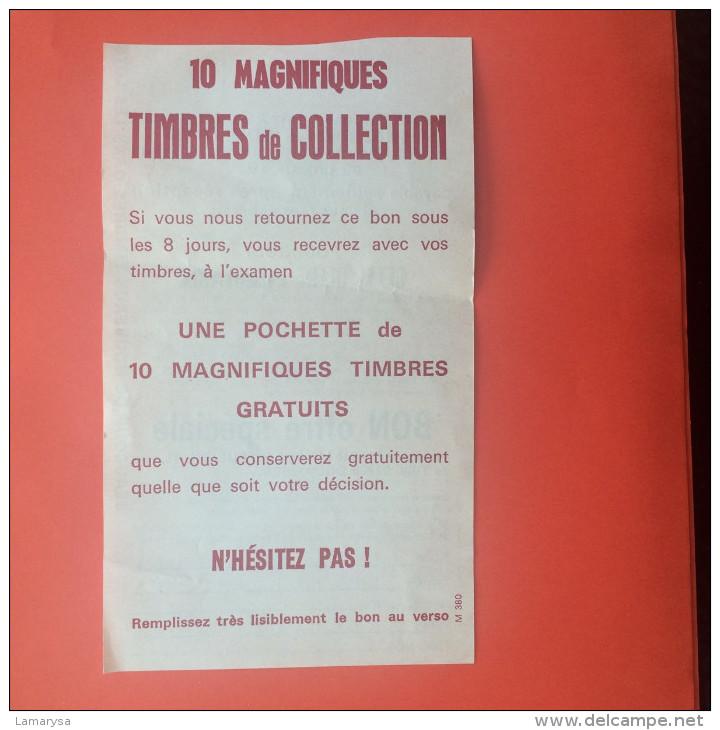 Publicité BON POUR OFFRE SPECIALE DE TIMBRES DE COLLECTION 10 MAGNIFIQUES TIMBRES STAMPS ROUMANIE - Sellos