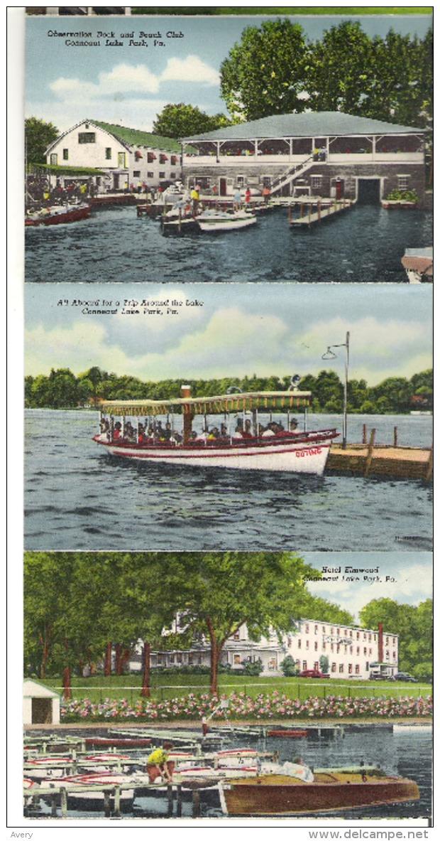 Souvenir Folder Of Conneaut Lake Park, Pennsylvania  Cover Is Missing  16 Photos - United States