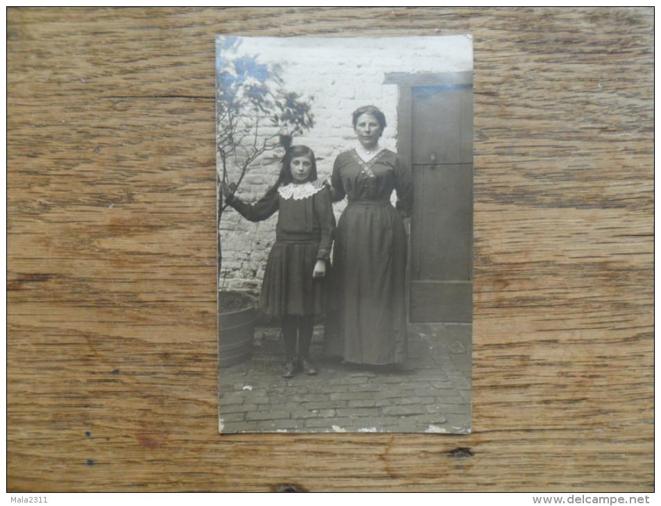 ANCIENNE  PHOTO   / PORTRAIT DE  MERE ET FILLE - Fotos