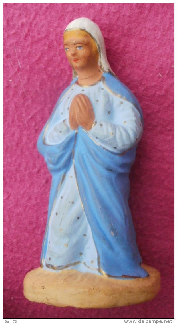 Vierge Marie Santon M CHAVE Hauteur 9.5 Cm - Autres