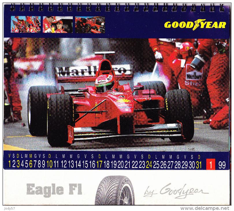 CALENDARIO 1999 - GOOD YEAR RACING F1 - Calendari