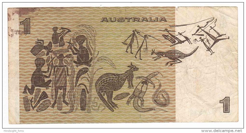 Australian One Dollar ($1) Paper Bank Note - Johnston/Stone - Serial DLV927539 - Circulated/Used - Emissioni Governative Decimali 1966-...