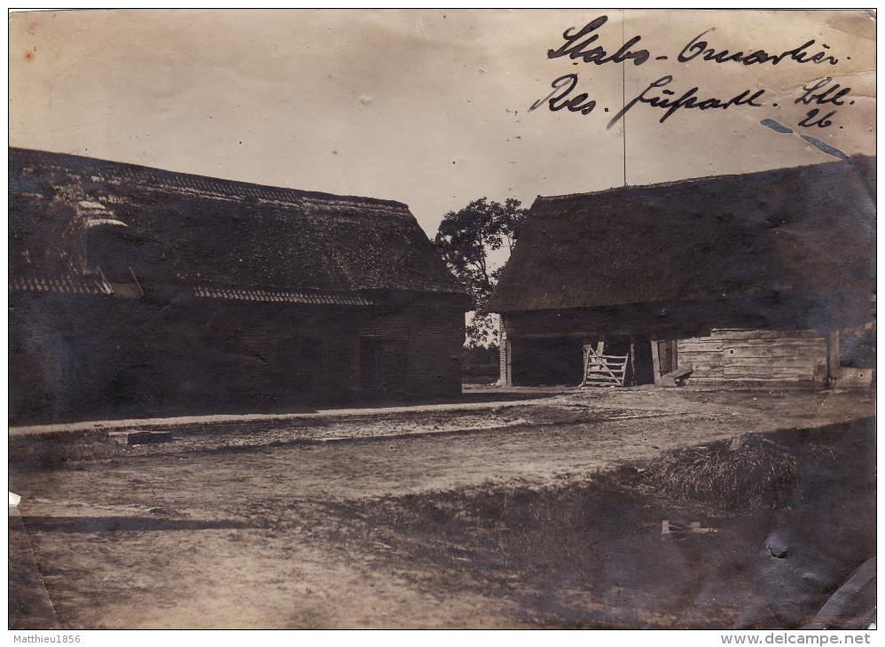 Photo Juin 1915 SCHAEP-BAILLIE (Schaap-Balie Près Langemark-Poelkapelle) - Quartier Allemand, Fussartillerie (A139, Ww1) - Langemark-Poelkapelle