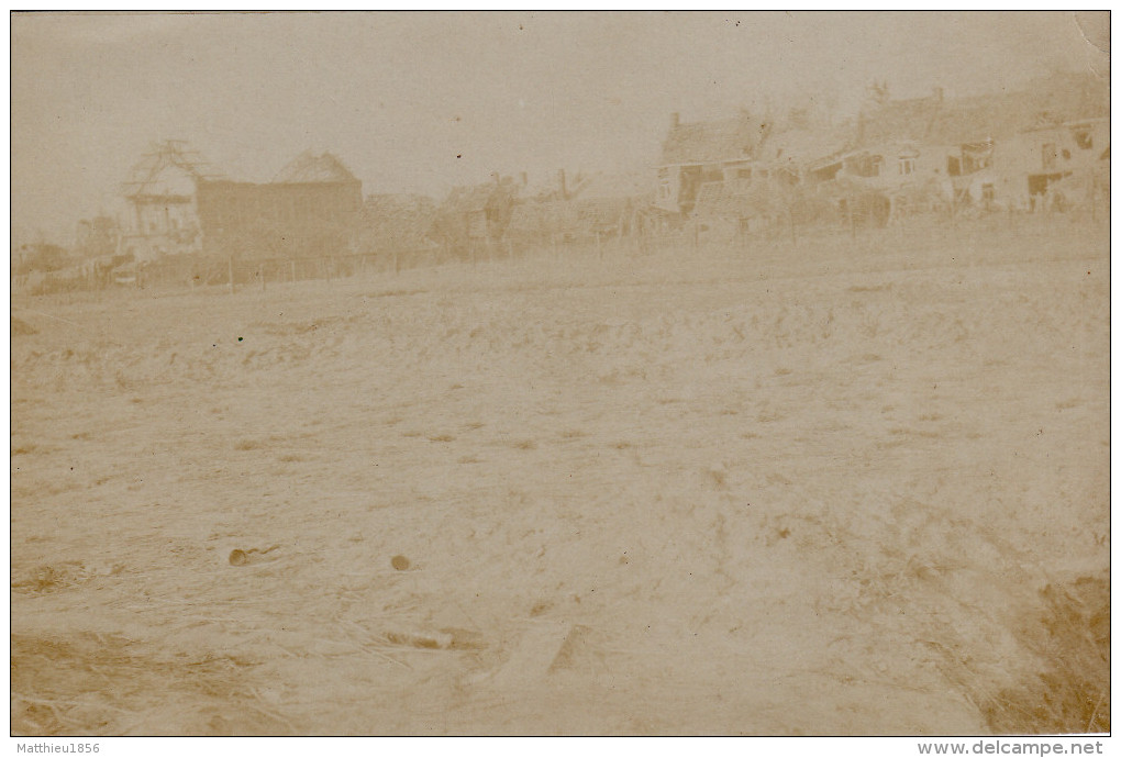 Photo 1915 LANGEMARK-POELKAPELLE - Une Vue (A139, Ww1, Wk 1) - Langemark-Poelkapelle