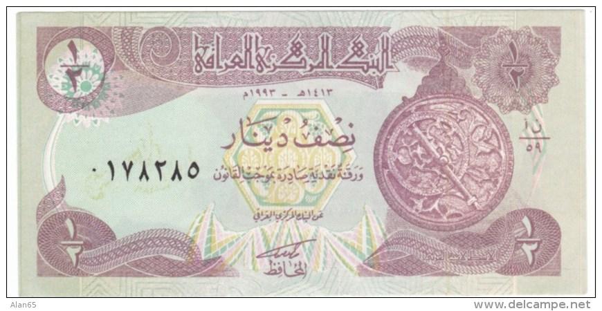 Iraq #68, 1/2 Dinar Half Dinar 1980 Banknote Currency - Iraq