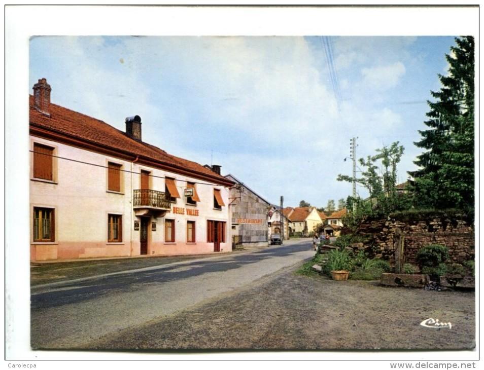 CP  BELVAL (88) Cafe De La Belle Vallee - Autres Communes