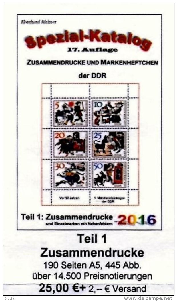 Zusammendruck DDR 2016 Part 1 RICHTER New 25€ Katalog ZD Varianten Zierfeld Leerfeld Se-tenant Special Catalogue Germany - Allemand